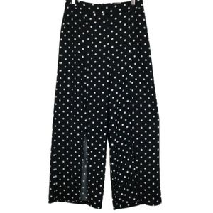 Seek The Label Polka Dot Split Front Pants Black